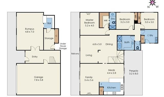 3 Palmerston Crescent Wheelers Hill - Floorplan