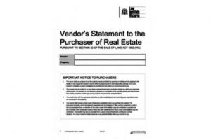 Section 32 Vendors Statement | Vendor Marketing Melbourne