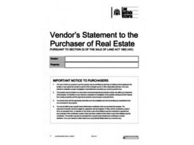 Section 32 Vendors Statement | Vendor Marketing Melbourne