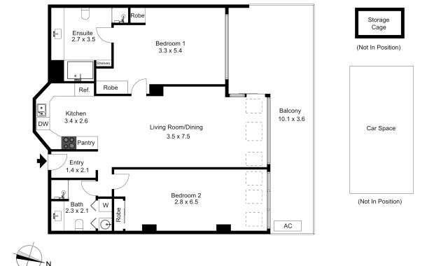55-604 St Kilda Road Melbourne - Floorplan